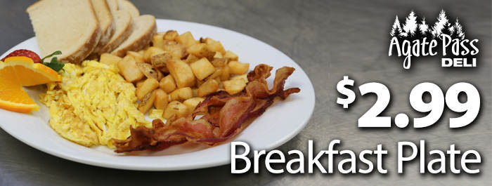 Deli Special Breakfast Offer Clearwater Agate Pass Deli