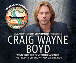 Craig Wayne Boyd at Clearwater Casino Resort