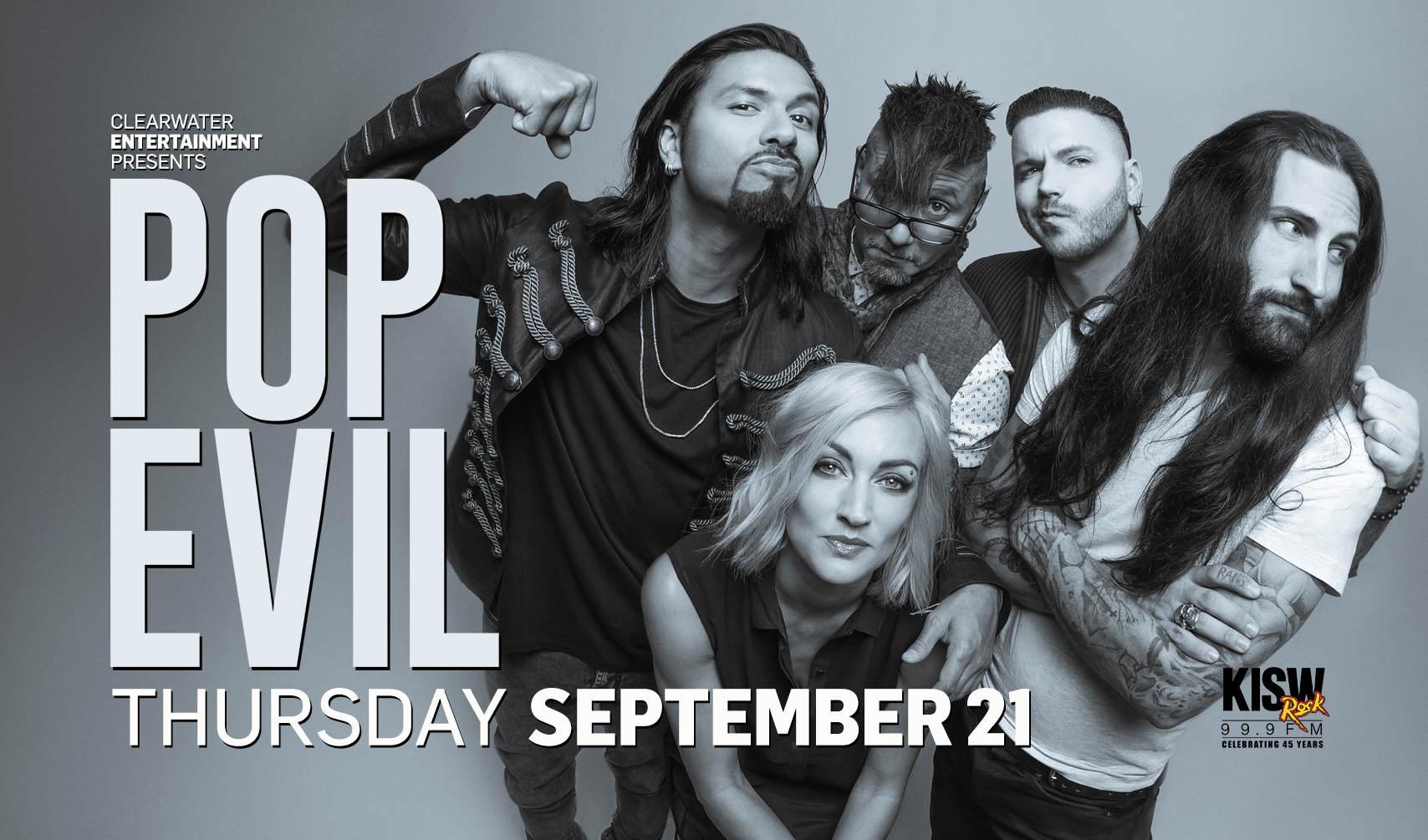Pop Evil September 21st Clearwater Casino