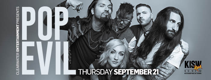 Pop Evil September 21st Clearwater Casino Resort