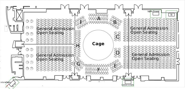 Clearwater Event Center MMA Seating Map 2017