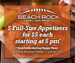 Beach Rock Music & Sports 5 for $5 at 5PM