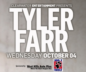 CLEARWATER ENTERTAINMENT PRESENTS: TYLER FARR!