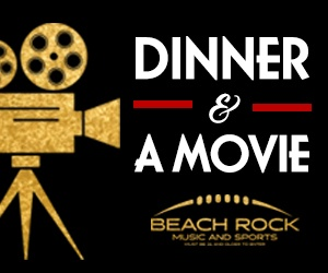 Dinner & Movie at beach Rock Music & Sports