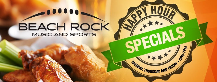 Beach Rock Music & Sports Happy Hour