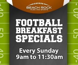 Football Breakfast Specials Beach Rock Music & Sports