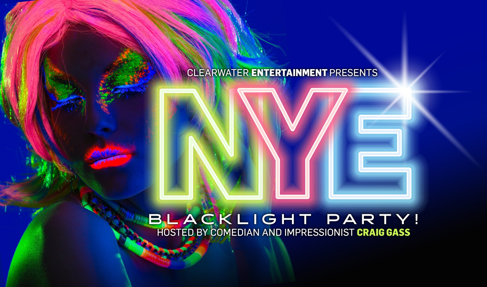 new years eve black light party hosted by craig gass