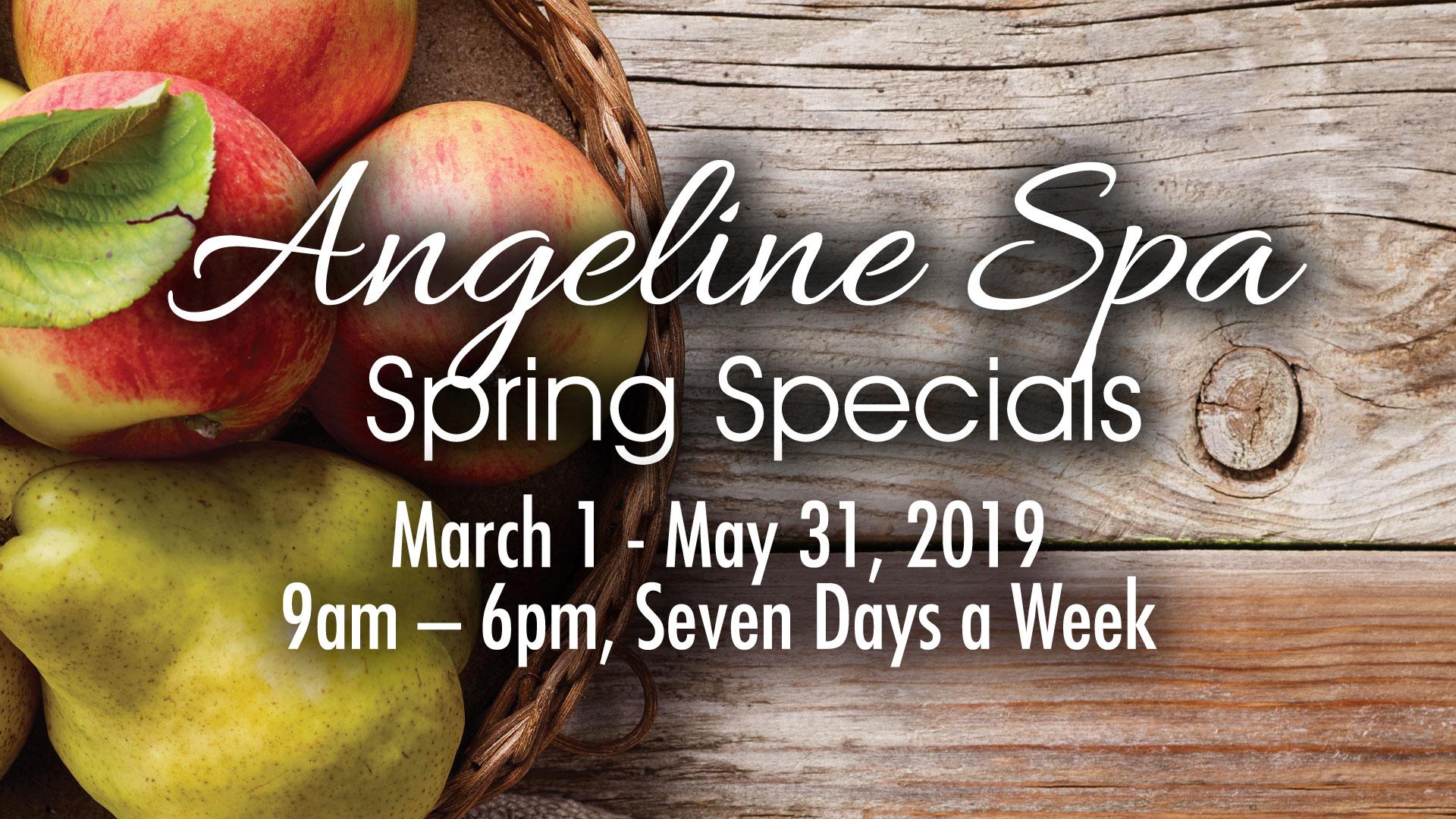 Angeline Spa Spring Specials