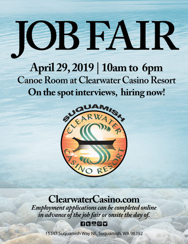 Clearwater Casino Resort APRIL 2019 Jobfair Flyer