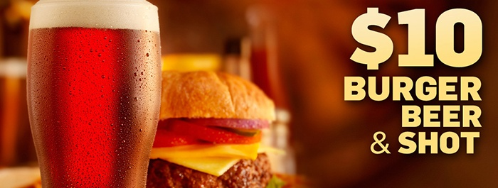 $10 Burger Beer Shot