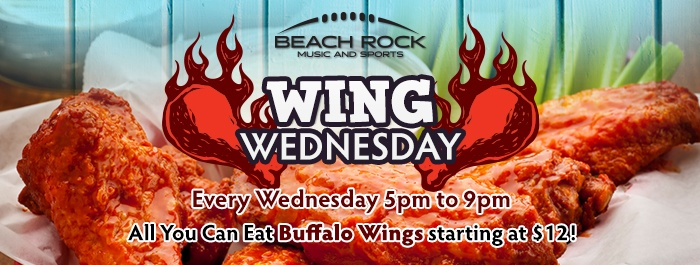 Wing Wednesday Beach Rock Music & Sports