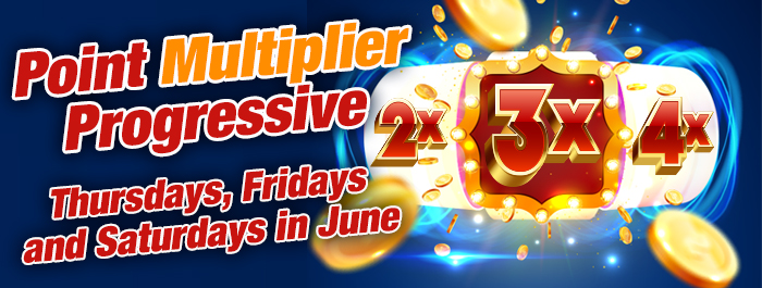 Point Multiplier Progressive promotion
