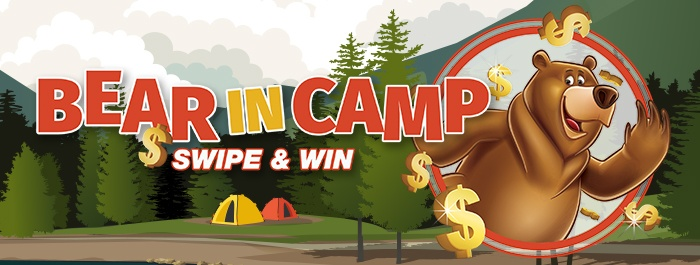 Bear in Camp Swipe to Win!